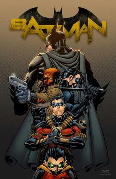 Batman and The 4 Robins