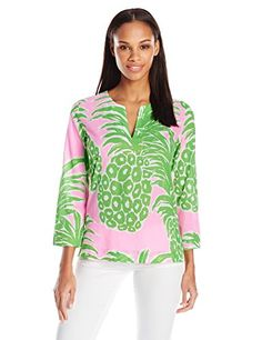 Lilly Pulitzer Women's Amelia Island Tunic, Pink Pout Flamenco, Medium- #fashion #Apparel find more at lowpricebooks.co - #fashion