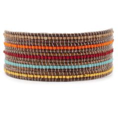 Chan Luu - Orange Mix Beaded Wrap Bracelet on Natural Brown Leather, $190.00 (http://www.chanluu.com/wrap-bracelets/orange-mix-beaded-wrap-bracelet-on-natural-brown-leather/)