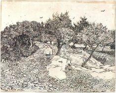 Vincent Van Gogh, landscape drawings