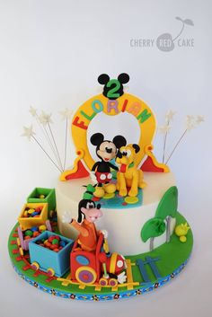 Cherry Red Cake - Mickey Mouse Clubhouse birthday cake