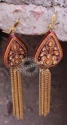 AFRIDA EARRINGS by Indiatrend. Shop Now at WWW.INDIATRENDSHOP.COM