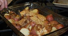 Tater Tots and Ta-Ta's: Onion-Roasted Chicken & Potatoes Chicken Breast Halves Recipe, Chicken Onion Soup Mix Recipe, Onion Chicken, Baked Chicken Recipes, Chicken Bacon, Potato Recipes, Onion Soup Potatoes, Roasted Chicken And Potatoes, Potato Onion