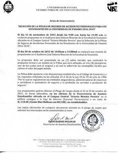 Vicerrectoria de Asuntos Estudiantiles (VAE): AVISO DE CONVOCATORIA