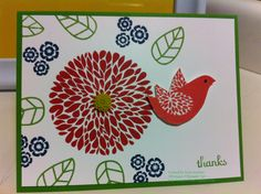 Stamp with Ter - Betsy's Blossom Little Birdie, Thank You Cards, Stampin Up, Birthday Cards, Thankful, Girly, Paper Crafts, Create, Blossoms