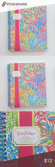 "NWT Lilly Pulitzer spiral notebook Take your notes in style! Brand new with tags Lilly Pulitzer spiral notebook in ""Lover's Coral."" This is the LARGE notebook, not the mini one. Makes an excellent gift. Also, check out my closet for lots of other Lilly items this can be bundled with! Lilly Pulitzer Accessories"
