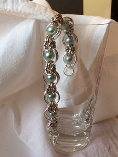 Bracciale in Chainmaille con perle