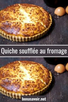 Cheese soufflé quiche - Today, a simple and friendly little recipe, a cheese soufflé quiche. A variant of the famous Lorra - Best Quiche Recipes, Healthy Low Carb Recipes, Vegan Breakfast Recipes, Keto Recipes, Quiche Lorraine, Quiches, Crab Deviled Eggs Recipe, Cheese Souffle, Cheese Quiche