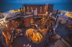 Spitbank Fort is a private island in the middle of the Solent, off Portsmouth, Disney Wedding Venue, Mansion Global, Unusual Wedding Venues, Boutique Retreats, Harbor City, Gun Rooms, Unique Hotels, Skyfall, Rooftop Terrace