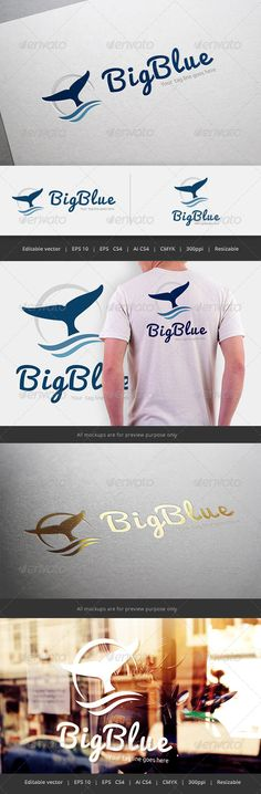 Big Blue Logo — Vector EPS #club #guesthouse • Available here → https://graphicriver.net/item/big-blue-logo/5545472?ref=pxcr