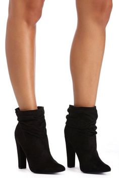 Black Soft Slouch Booties