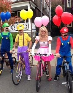 Real life mario kart group costume... Imagine the possibilities.