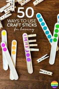 50 Best Ways To Use Craft Sticks For Learning in Early Childhood Preschool Centers, Preschool Classroom, Kindergarten Math, Center Ideas For Kindergarten, Montessori Elementary, Classroom Decor, Elementary Schools, Math Games, Learning Activities