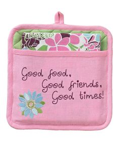 Take a look at this Split P Floral Field Pot Holder & Dish Towel on zulily today!