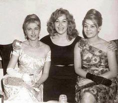 Egyptian actresses Mariam Fakhreddine (left), Hoda Soltan (centre) and Nadia Lotfy (right), taken in the early 60's.