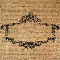 ORNATE French FRAME Empty Great 4 Labels Digital by Graphique