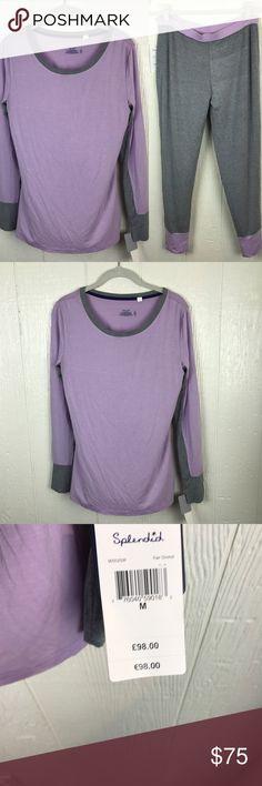 [Splendid] Nordstrom's Pajama Set Purple Gray M Nwt! Super soft Splendid Intimates & Sleepwear Pajamas