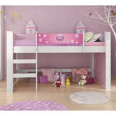 Para deixar o quarto da sua filha ainda mais bonito e com espaço adequado para brincar, essa cama é uma ótima opção!