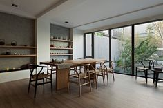 Phenomenal Modern Asian Inspired Living Room Decor And Accessories - Home Design Minimalist Dining Room, Minimalist Home Decor, Modern Minimalist, Minimalist Interior, Minimalist Living, Asian Living Rooms, Asian Interior Design, Interior Ideas, Modern Chinese Interior