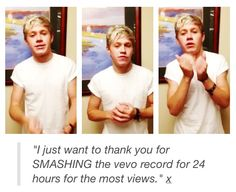 The fact that he took the time to film himself saying thank you for breaking the record and talk about the  anniversary makes me wanna cry
