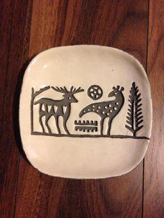 Ceramic hittite figure plate