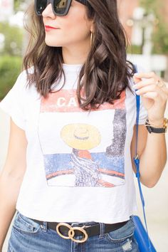 Graphic Capri Italy Tee With Shorts , casual and affordable summer outfits | My Style Vita @Mystylevita