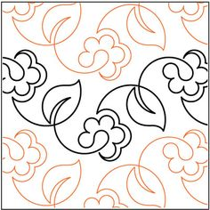 Spring Vine quilting pantograph pattern by Lorien Quilting Patchwork Quilting, Quilting Stitch Patterns, Machine Quilting Patterns, Quilt Stitching, Longarm Quilting, Free Motion Quilting, Quilt Patterns, Quilts, Top Stitching