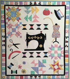 Spooling Around the Block - Our Newest Block of the Month Quilt Pattern $26.00