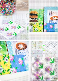 Seriously?  I just donated all of Olivia's beads!  Cross stitch patterns on pegboards - by Craft & Creativity