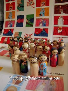 Miniature Printable Peg Dolls Passion Set