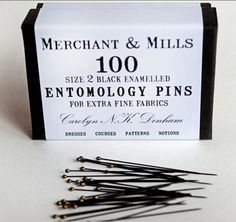 Pin packaging from Merchant & Mills