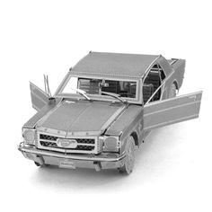 1965 ford mustang iq puzzel diy monteren schaal model 3d metalen puzzel onderwijs speelgoed rvs learning kids speelgoed