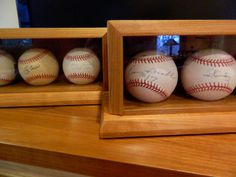 Custom Made Wood Baseball Display Case