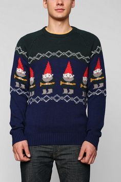Ugly holiday Sweater: Men's Elf sweater from @Urban Outfitters. #paypalit
