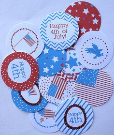free 4th of july printables | the Studio created a festive assortment of free printable 4th of July ...