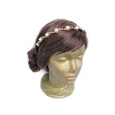 Daisy headpiece - Art Deco headpiece, flower crown, bridal flower headband by curtainroad at www.etsy.com/shop/curtainroad
