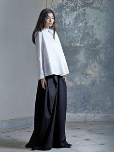 NJAL | Black Wide Pants by Lara Khoury