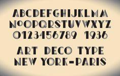 Art Deco Typeface on Behance