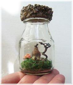 Cute idea for mini fairy houses