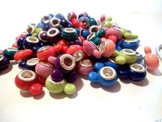 20 Colorful Mouse Ears Euro Acrylic Beads. Starting at $5 on Tophatter.com!Euro Bracelet Supplies No.63 March 12, 8pm EDT