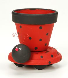 Ladybug Recycled Crafts