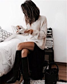 pin me at jghukk Fall Winter Outfits, Autumn Winter Fashion, Winter Style, Fall Fashion, Casual Outfits, Cute Outfits, Fashion Outfits, Looks Style, Style Me