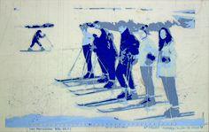 «Les archives de Monsieur X», Les Maricottes WSL 69-70 2004-2005, 45 x 31 cm, collage sur transparents espacé
