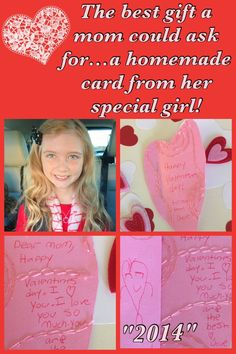 So sweet & special when your little one comes downstairs with a bag of homemade Valentine's cards for everyone in her family! A special surprise I will cherish always! Happy Valentine's Day! May we all have a little special one who takes the time to show us how much they care!