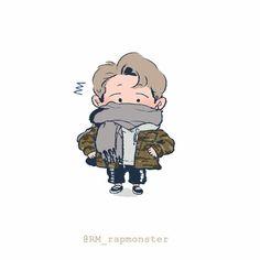 namjoonie /so cute/ Bts Chibi, Wallpaper Gratis, Bts Wallpaper, Cute Little Drawings, Bts Rap Monster, Bts Drawings, Cool Stickers, Kpop Fanart, Namjoon