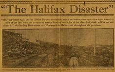 Halifax Disaster Collection Finding Aid ~ Perkins School for the Blind Archives Halifax Explosion, Best Of Intentions, Newspaper Headlines, City Maps, Latest Books, The Province, Nova Scotia, Blind