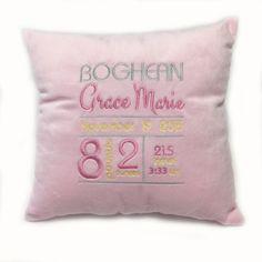 Baby Announcement Pillow (Grace)