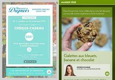Galettes aux bleuets, banane et chocolat - La Presse+ Pains, Biscuits, Muffins, Cookies, Table, Desserts, Food, Coconut Oil, Flat Cakes