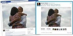 Posiblemente dos de los posts con mayor influencia en la historia del social media #obama