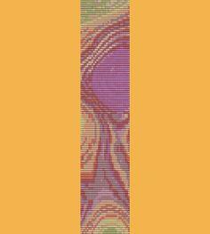 Tree Rings Bracelet Bead Pattern Loom Peyote Two by TheBeadedCat, $6.00